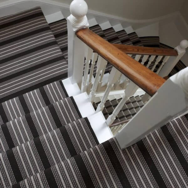 Black, Grey & White Stair-runners | The Silkroad