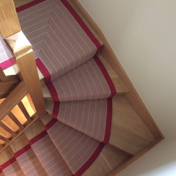 Grey Striped Stair Runner | The Silkroad