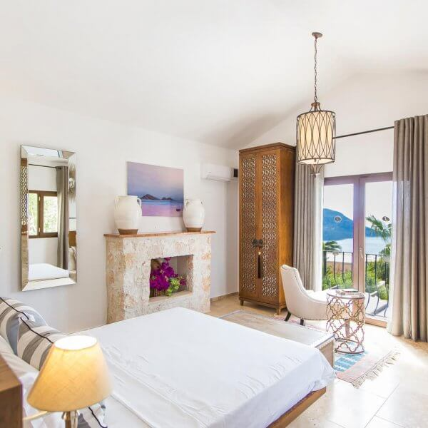 Villa Kalkan Turkey Bedroom | The Silkroad